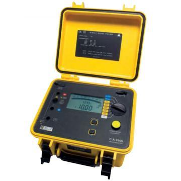 法国CA/CHAUVIN ARNOUX 高压绝缘测试仪(含2个测试极),C.A 6505 5KV 5千伏4量程