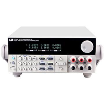 艾德克斯/ITECH 直流电源,30V/6A/180W*2CH、5V/3A*1CH(内置RS232\USB)