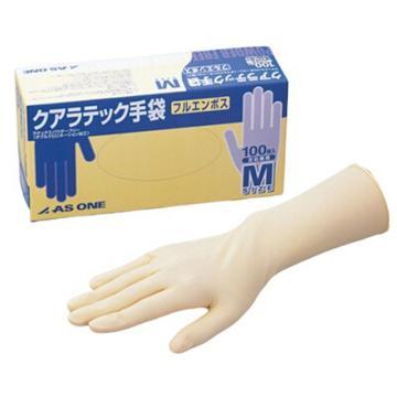 亚速旺实验室用乳胶手套 L 100只入 100只/盒