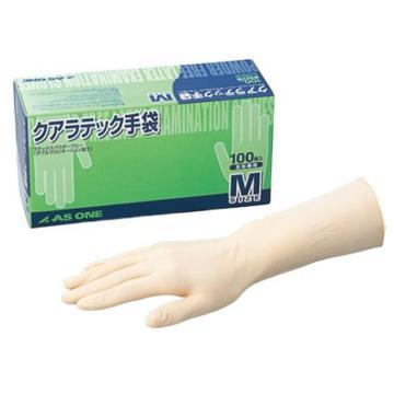 亚速旺实验室用乳胶手套(12英寸/无粉) DX无粉 M 100只/盒