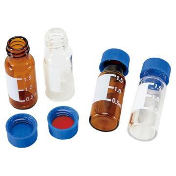 亚速旺ASONE标准螺口进样瓶(9-425) 棕色带刻度进样瓶 (100只/盒)
