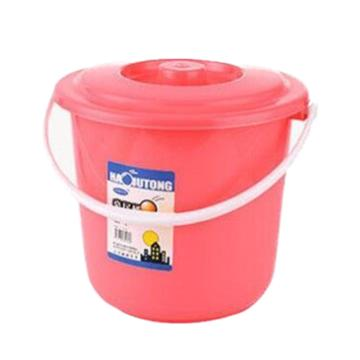西域推荐 塑料桶,5L,小号,红色