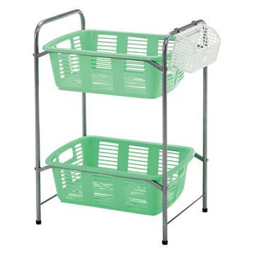 亞速旺 實驗室專用帶筐架(無滑輪),整理實驗室內零亂的細小物品或玻璃器皿清洗,SYBW-2G,3-6764-01