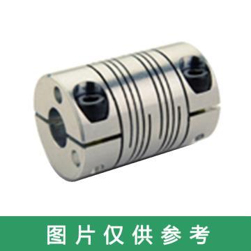 "Ruland FCR-夹紧式螺旋切缝弹性联轴器 ,一端英制一端公制, 铝合金,FCR16-11MM-1/4""-A"