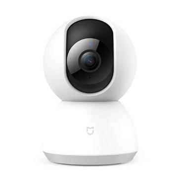 小米米家)智能摄像机云台版白色1080P家用监控高清360度红外夜视增强移动监测小米米家摄像头