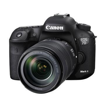 佳能Canon 单反相机 半画幅(约2020万像数)7D Mark II(EF-S 18-135mm f/3.5-5.6 IS USM)(含W-E1卡)