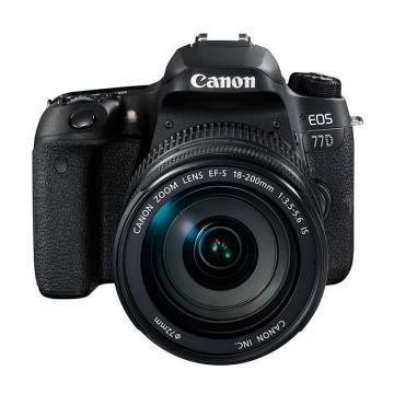 佳能Canon 数码单反相机,半画幅(约2420万像数)EOS 77D(EF-S 18-200mm f/3.5-5.6 IS)