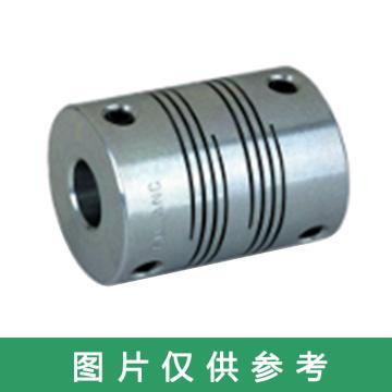 Ruland PSR-紧定螺钉式螺旋切缝弹性联轴器 ,英制, 铝合金,PSR8-1.5-1.5-A