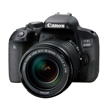 佳能Canon 数码单反相机,半画幅(约2420万像数)EOS 800D( EF-S 18-135mm f/3.5-5.6 IS STM)