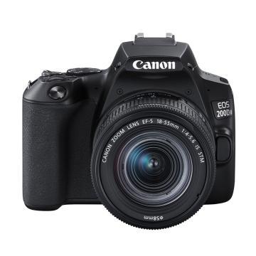 佳能Canon 单反相机,半画幅(约2410万像数)EOS 200D II(EF-S18-55mm f/4-5.6 IS STM)黑 白