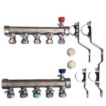 8113820玉泉 PPR分水器1寸杠接25PPR管,7路