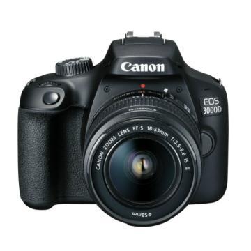 佳能Canon 数码单反相机,半画幅(约1800万像数)EOS 3000D(EF-S 18-55mm f/3.5-5.6 IS II)