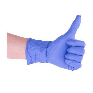 麦迪康 倍护型丁腈手套,1133B,无粉,蓝紫色,小号,100只/盒,10盒/箱