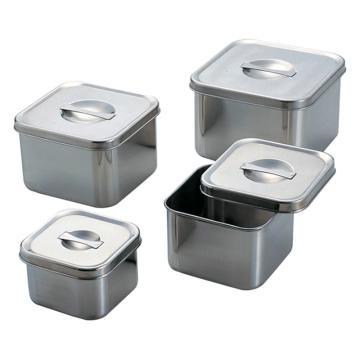 亚速旺(ASONE)实验室用不锈钢方形罐 No.6(1个),5-186-04