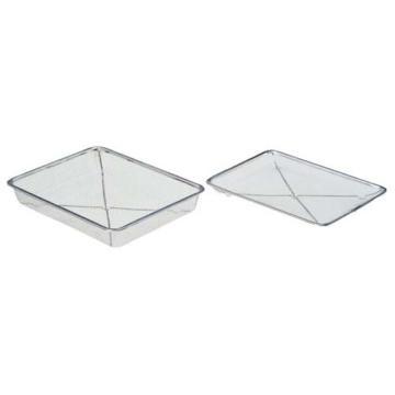 亚速旺(ASONE)钢丝方形盆 深12号(1个装),4-106-02