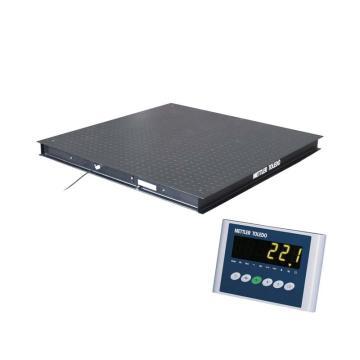 梅特勒-托利多 电子平台秤,额定秤量:1500kg,分度值:0.5kg,秤台尺寸(mm):1000*1000