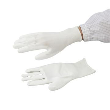 亚速旺实验室用AP涤纶PU涂掌手套 10双/袋 LL