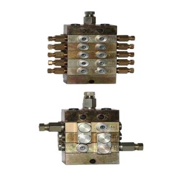 青辰瑞 3000系列组合型片式递进式油量分配器,3000型分配器一进六出带行程开关