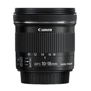 佳能Canon 數碼單反鏡頭,廣角變焦鏡頭 EF-S 10-18mm f/4.5-5.6 IS STM