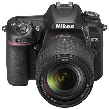 尼康D7500单反数码照相机,套机(AF-S 18-140mmf/3.5-5.6G ED VR 镜头)黑色