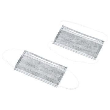 亚速旺实验室用低尘活性炭口罩 挂耳式 1箱(1个/袋50袋)