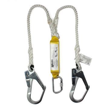 霍尼韋爾Honeywell 緩沖繩,DL-62,長度2m 12毫米雙叉緩沖細繩 配2個安全鉤 2個腳手架勾