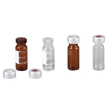 亚速旺2ml钳口自动进样瓶(11㎜瓶盖 ) 透明 AVC11002CP 1盒(100支)