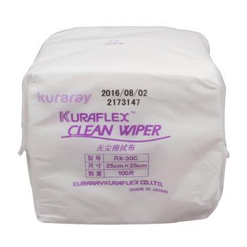 可樂麗無塵擦拭紙,RX-30C,25*25cm 100片/包,30包/箱 單位:包