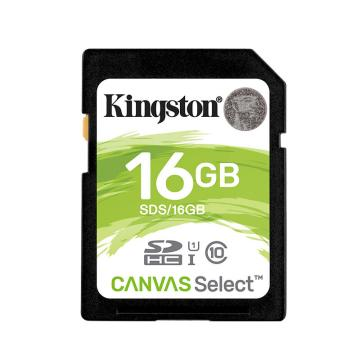 金士頓存儲卡,16GB?SD?存儲卡?U1?C10?高速升級版?高品質拍攝全高清視頻?終身保固