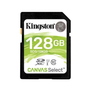 金士頓存儲卡,128GB?SD?存儲卡?U1?C10?高速升級版?高品質拍攝全高清視頻?終身保固