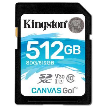 金士頓存儲卡,512GB?SD?存儲卡?U3?C10?V30?4K?專業版?讀速90MB/s?寫速?45MB/s?高品質拍攝?終身保固