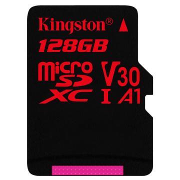 金士頓存儲卡,128GB?TF(Micro?SD)?存儲卡?U3?C10?A1?V30?4K?極速版?讀速?100MB/s?APP運行更流暢