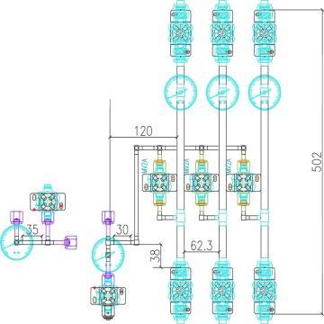 弗川气体分配阀箱,H2-VMB03(AL-1)