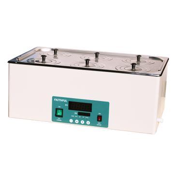 菲斯福 电热恒温水浴锅,RT+5~100℃,容积/内尺寸(宽深高mm):22.5L/500×300×150,DK-2000-IIIL(双列六孔)