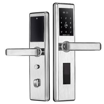 固特 指纹锁,双舌,1601,不锈钢/拉丝钢,不包安装