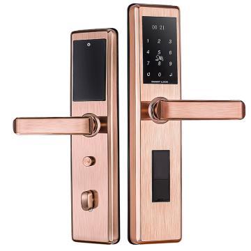 固特 指纹锁,双舌,1601,不锈钢/红古铜,不包安装