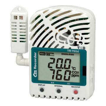 T&D 数据记录仪(CO2浓度/温度/湿度),TR-76Ui