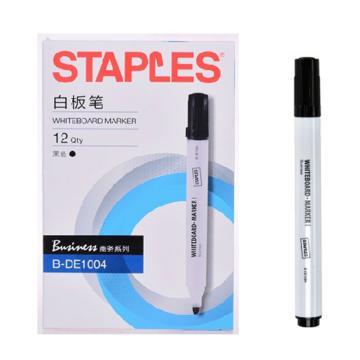 史泰博 白板笔,圆头 黑色 B-DE1004,12支/盒 单位:盒(替代:RVX217)