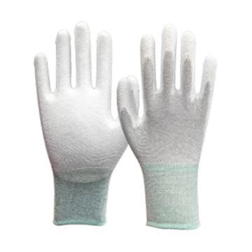 凌致防靜電針織PU涂掌手套,LZ03008-S,10雙/包 30包/箱 單位:包