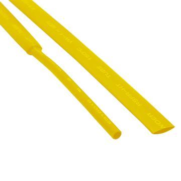 沃尔核材WORE 黄色无卤环保耐高温阻燃两倍热缩管 ,RSFR-(2X)125H-直径30mm黄色,50米/盘