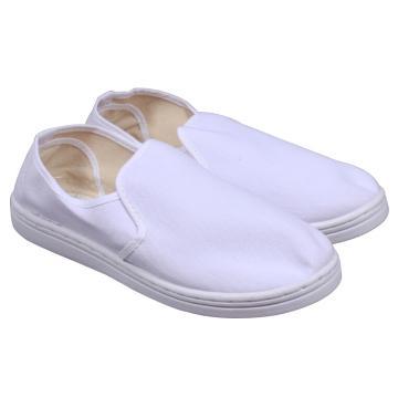 凌致防静电白色帆布中巾鞋 PVC底,LZ02003,35 同型号系列起订量10双