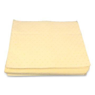 格洁化学品类片状吸液棉,40cm×50cm×2mm×200片_黄色,200片/箱 单位:箱