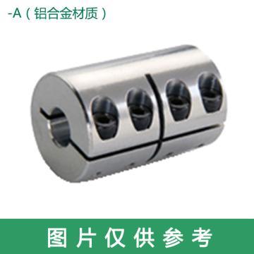 Ruland CLX-一体夹紧式刚性联轴器,英制,铝合金,CLX-10-10-A