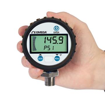 OMEGA C5通用數字壓力表,DPG8001-100,±0.25%滿量程精度 2節AA電池供電