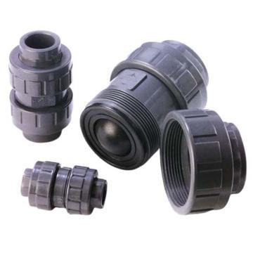 环琪 VP440型UPVC双由令球型逆止阀,承插式,密封EPDM,3/4'',DN20,ANSI标准