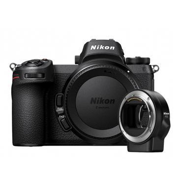 尼康Z7 机身+FTZ转接环,专业全画幅 微单相机 数码相机 Z7(约4,575万有效像素 493点自动对焦)