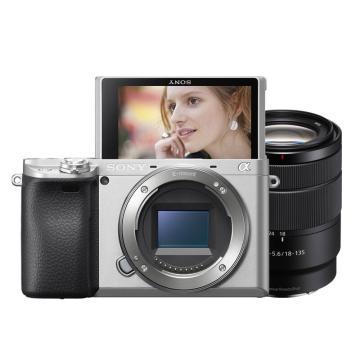 索尼微單數碼相機,半畫幅(約2420萬像數)ILCE-6400M(含SEL18-135鏡頭)