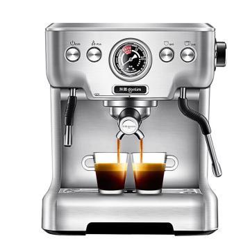 東菱(Donlim)意式咖啡機,DL-KF5700家用商用專業不銹鋼意式半自動咖啡機 可視化壓力表