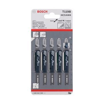 博世曲线锯条,经济效益型(工具钢) T119B 5条/包,2608663040