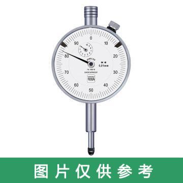 TESA 指针百分表0-100mm,型号732,不含第三方检测